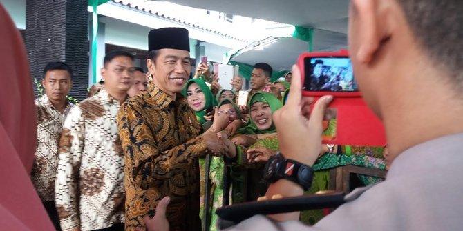 Jokowi Bersilaturahmi dan Mengajak Para Ulama Beri Kesejukan Pada Pilkada 2018